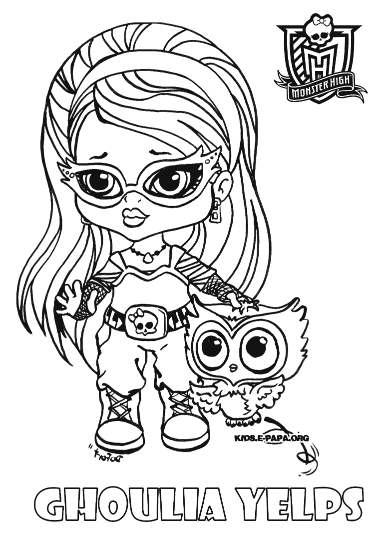 18 dessins de coloriage monster high b b imprimer - Dessin monster ...