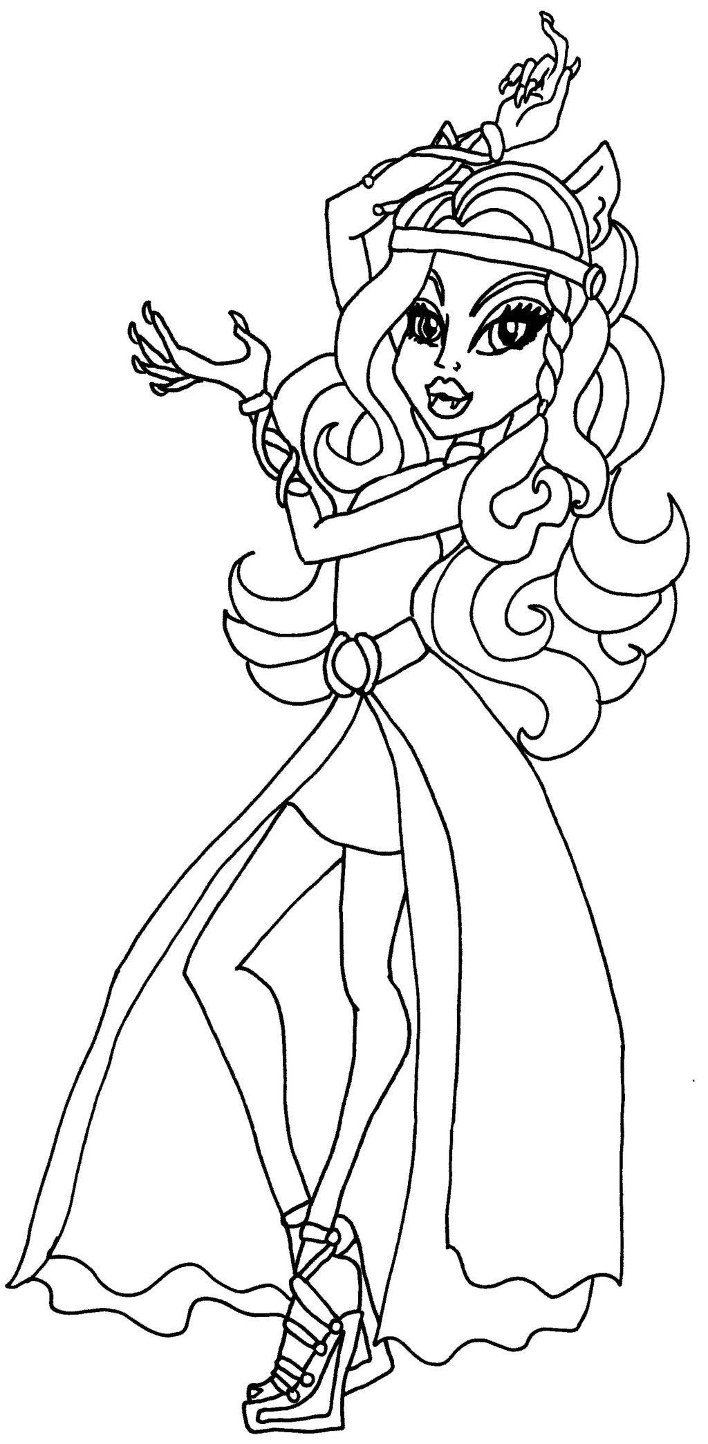 Monster High Clawdeen Ausmalbilder : Coloriage Monster High Clawdeen Dessin De Monster High Imprimer