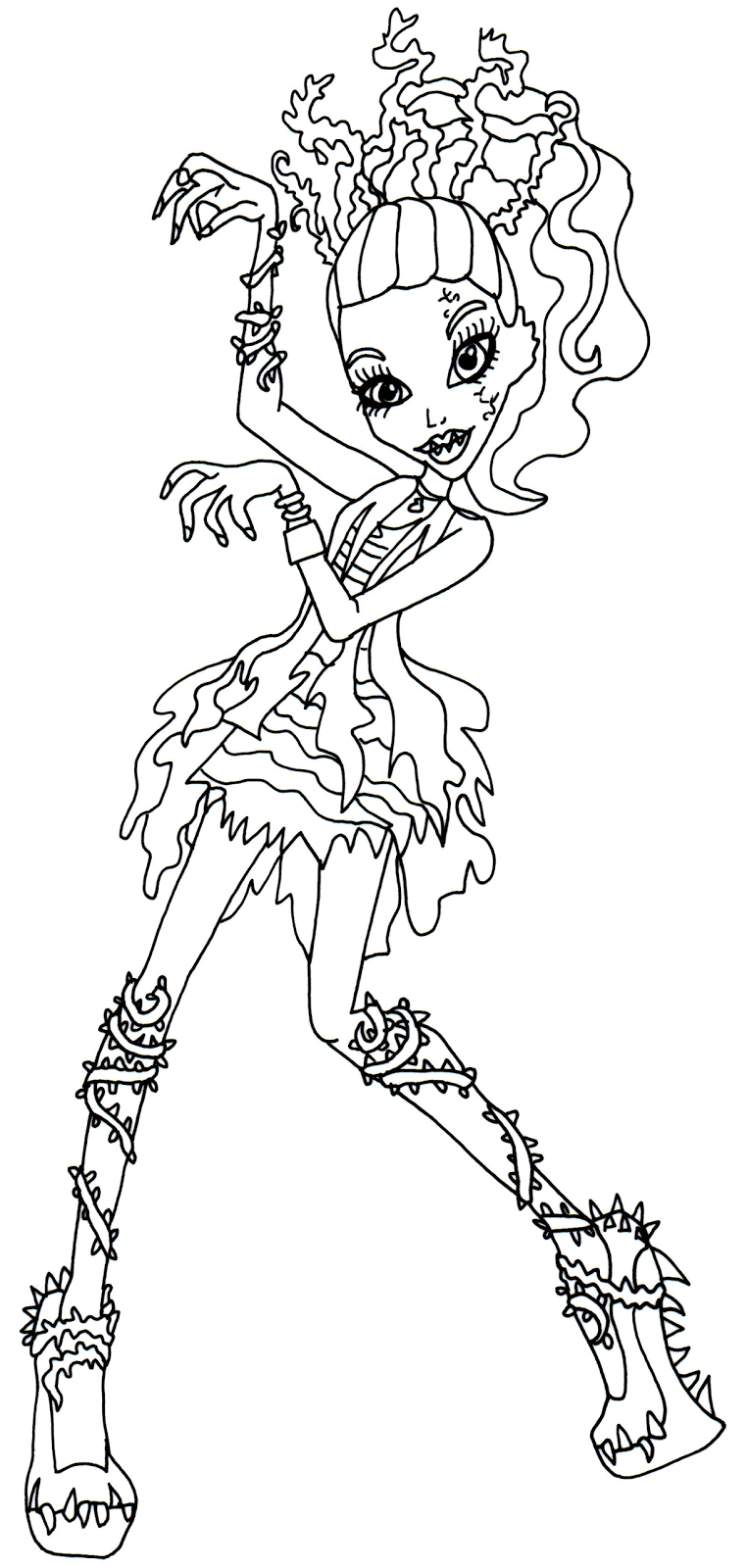 Venus Coloring Page Monster High