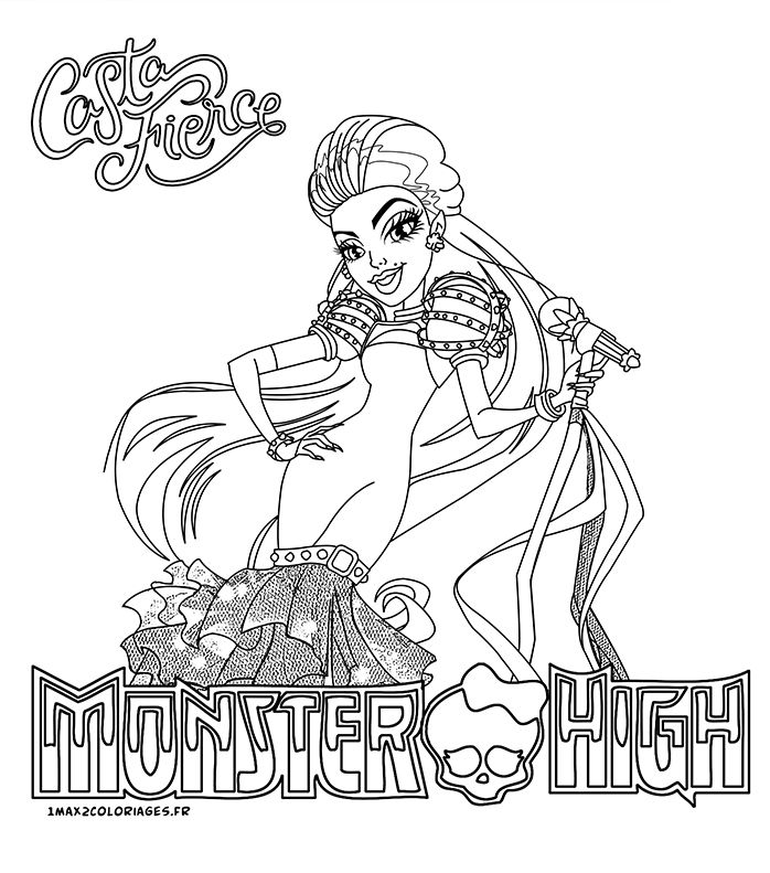 coloriage monster high noel a imprimer