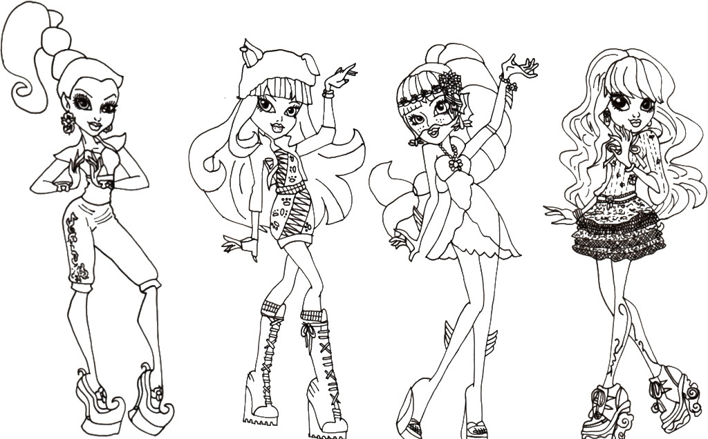Coloriage de monster high jeux de fille - Coloriage monster high baby ...