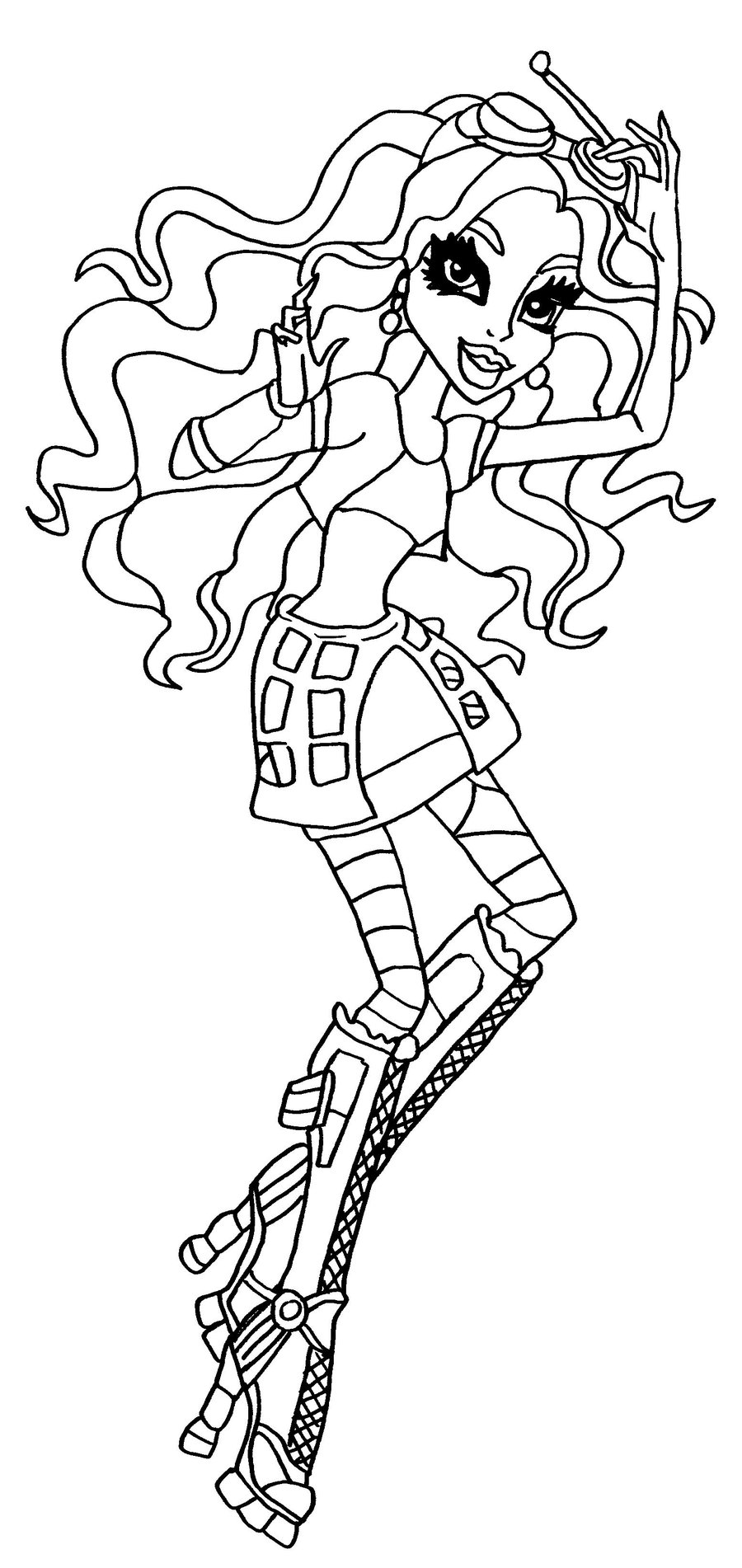 coloriage monster high clawd
