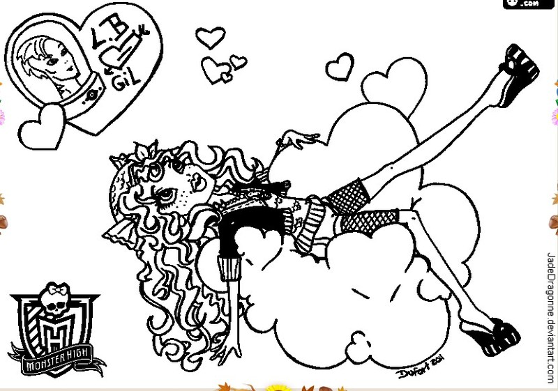 1 max 2 coloriage monster high