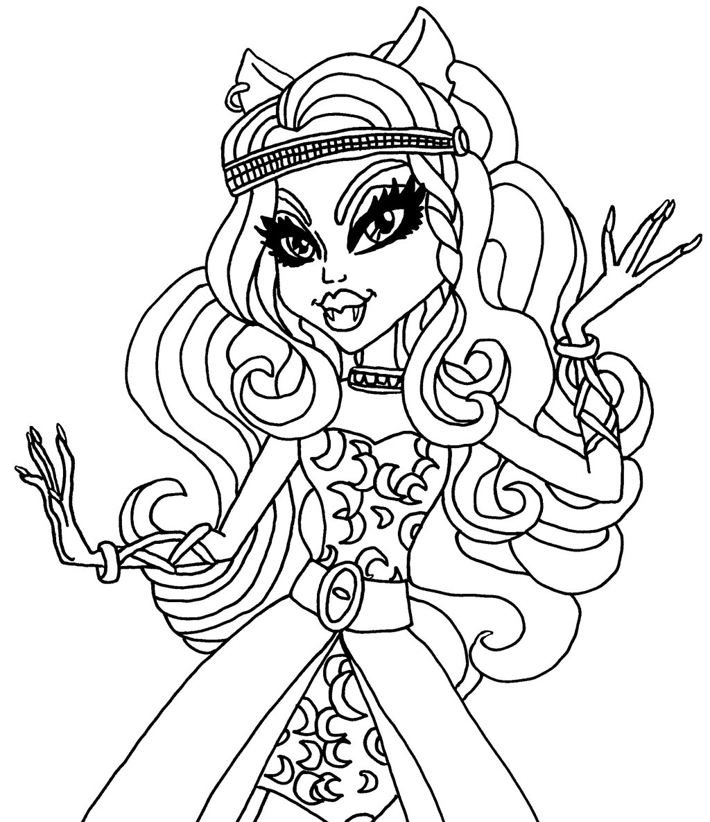 Coloriage monster high en groupe - Coloriage de monster ...