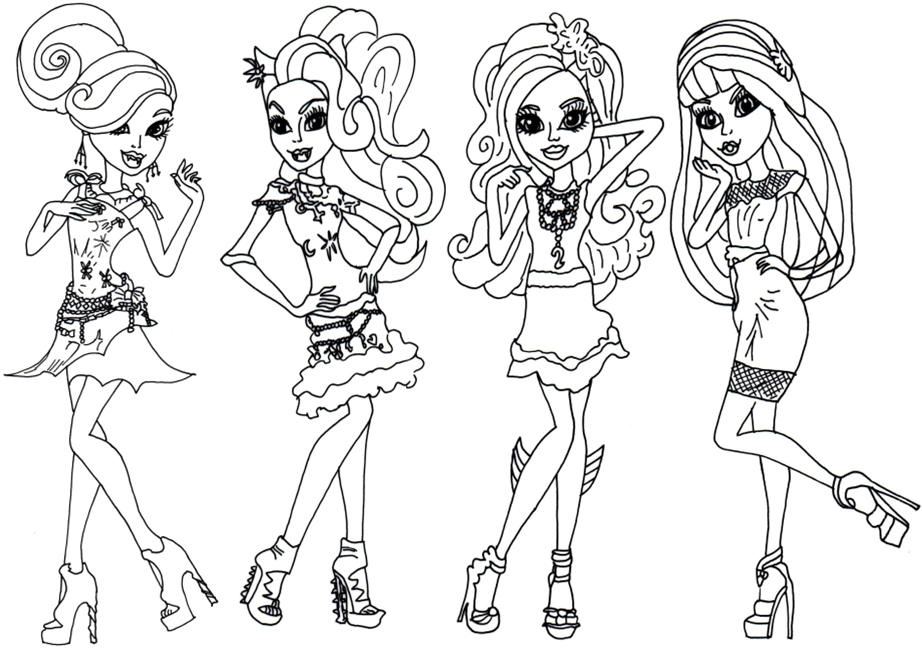 imprimer un coloriage monster high