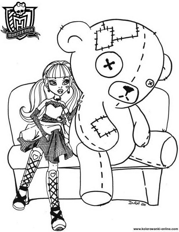 coloriage monster high à imprimer robecca