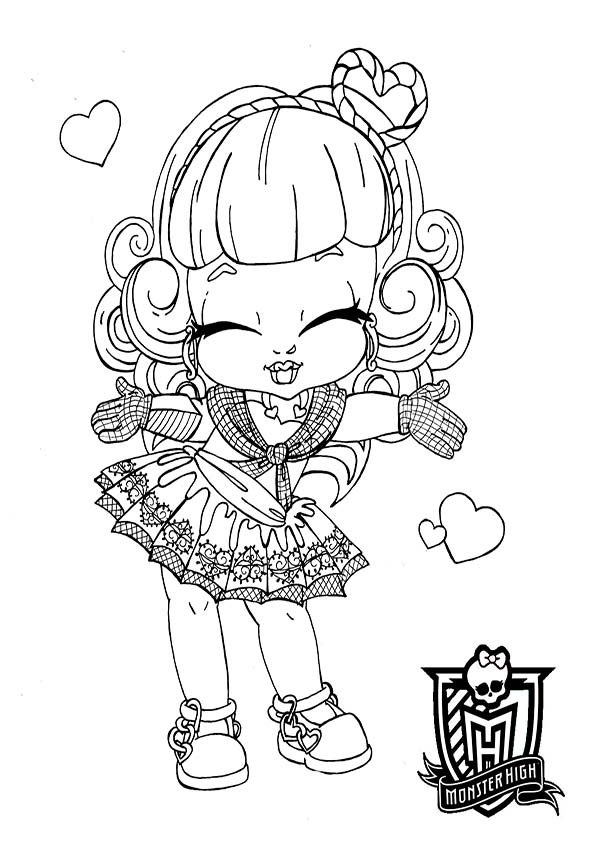 Coloriage Monster High 13 Souhaits