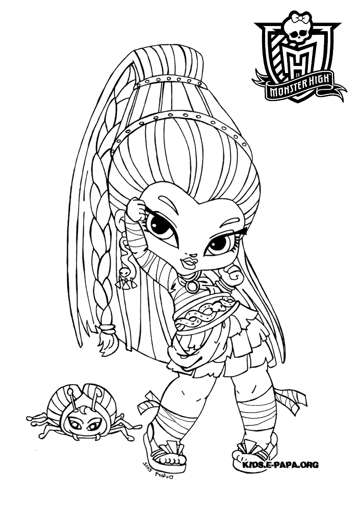 sac a colorier monster high