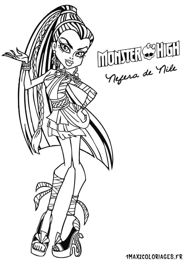 coloriage monster high à imprimer baby