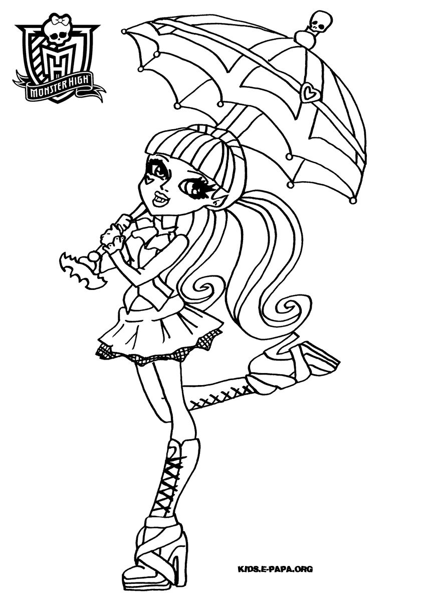 coloriage monster high 13 voeux
