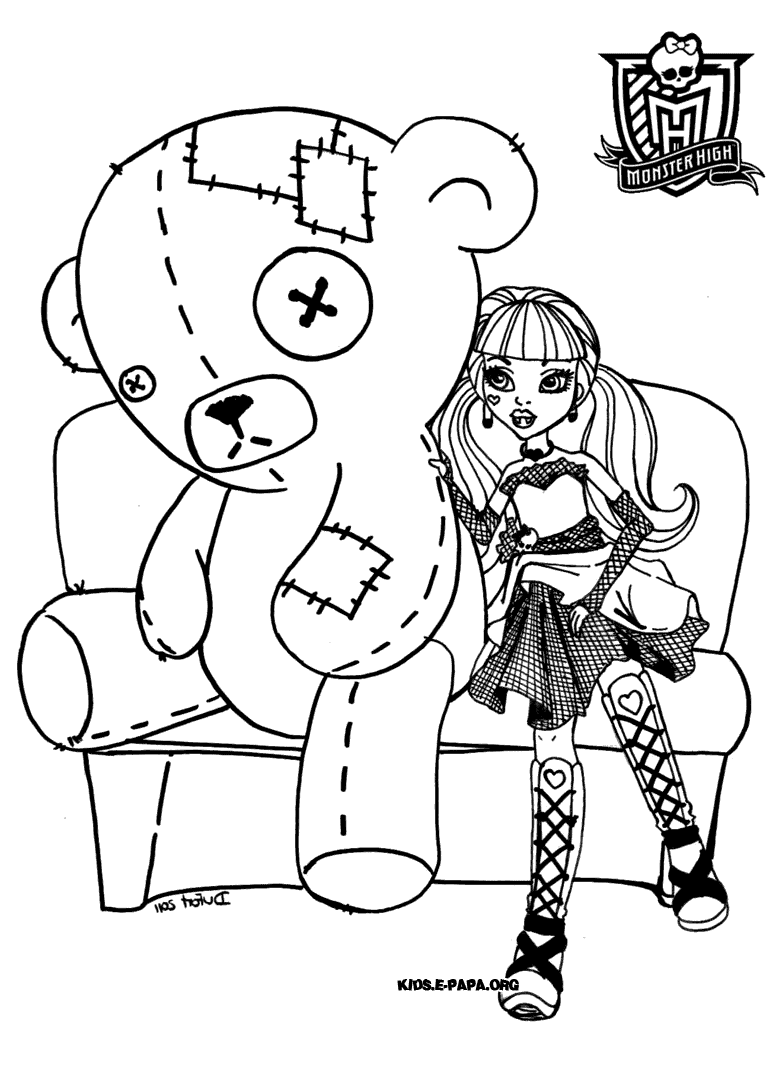 jeux et coloriage monster high