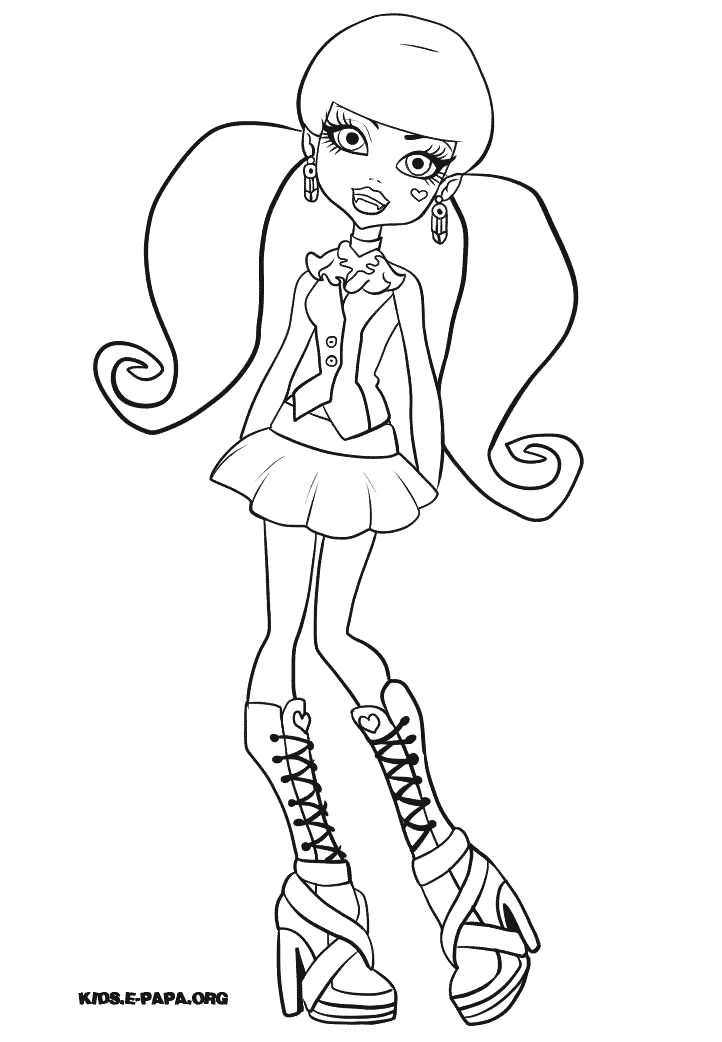 coloriage monster high à imprimer rochelle