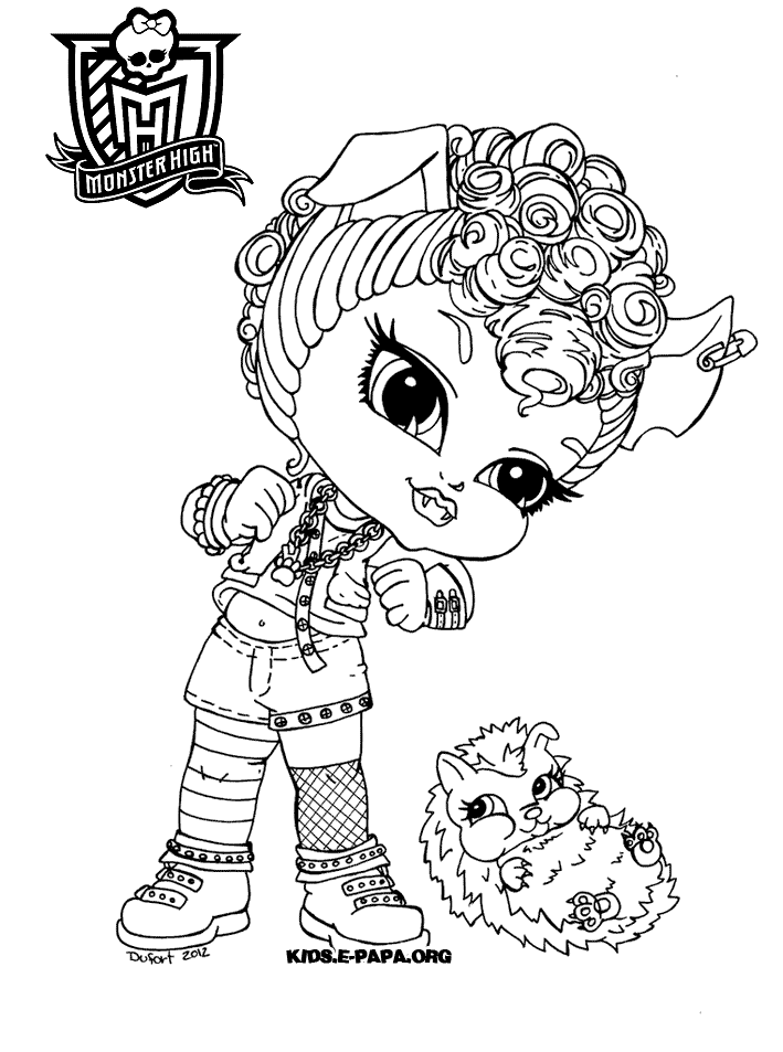 coloriage monster high gratuit à imprimer