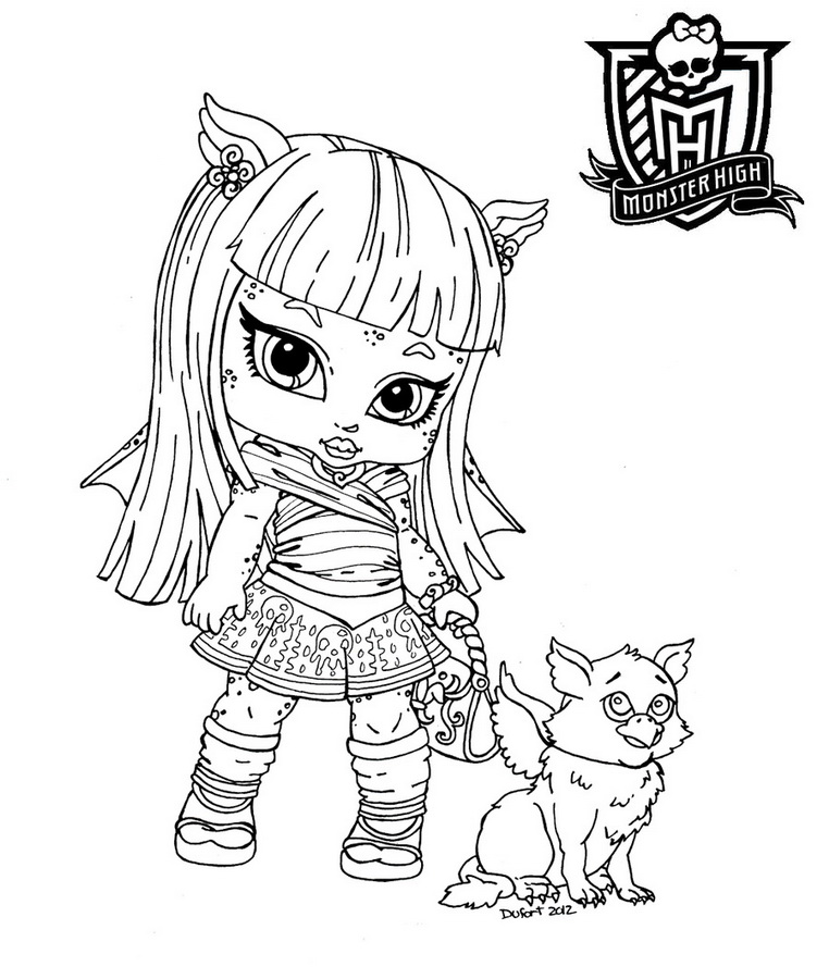 coloriage monster high 2014