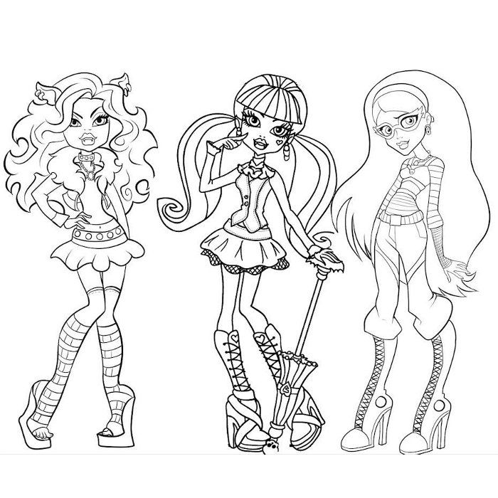 coloriage monster high 13 souhaits à imprimer