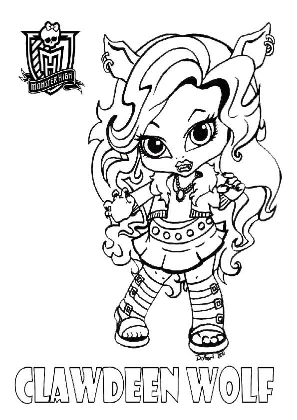 coloriage monster high baby rochelle