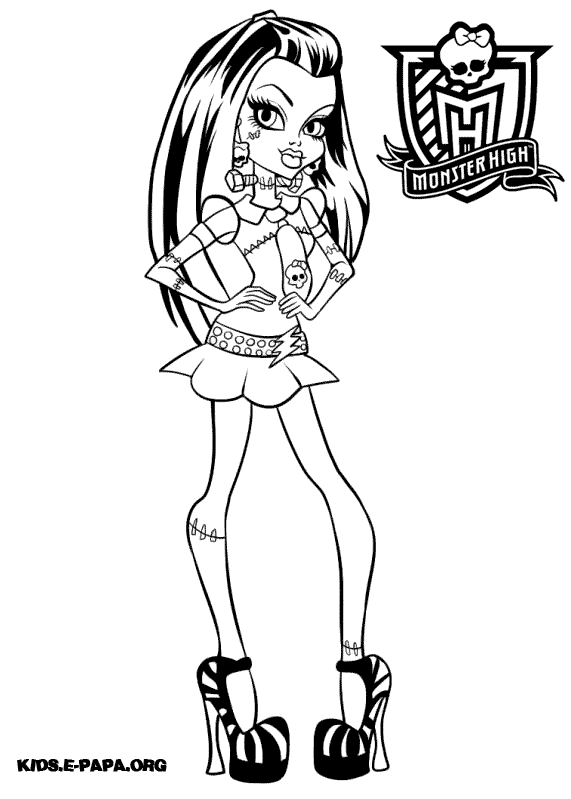 a colorier monster high
