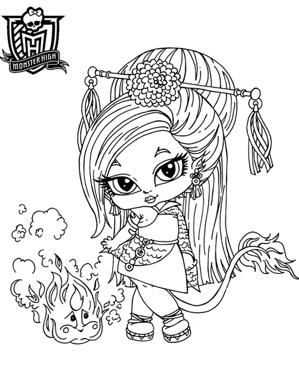 Coloriage Monster High A Imprimer