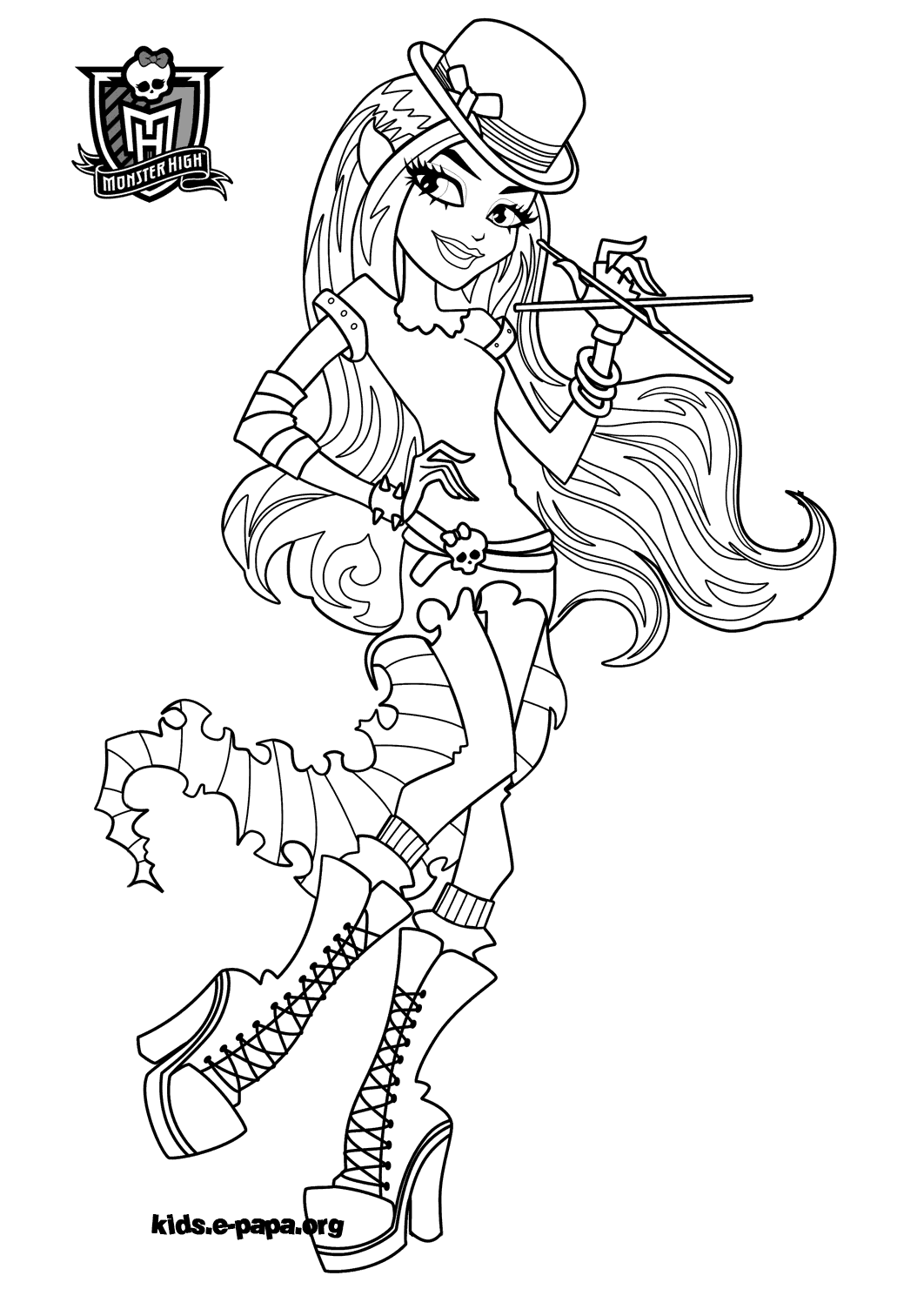 coloriage monster high rochelle