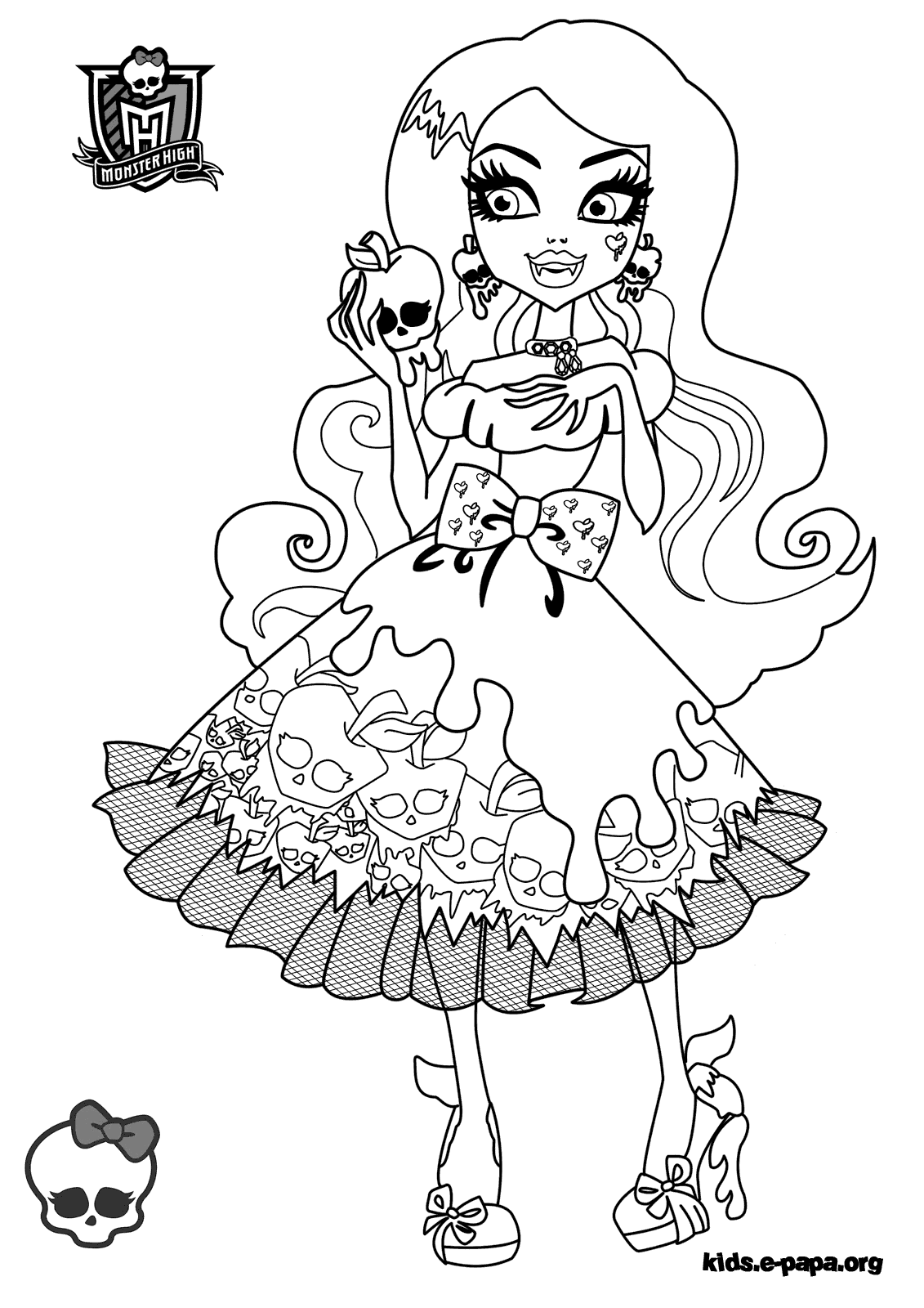 grand coloriage monster high