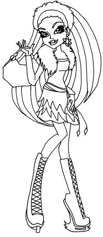 coloriage monster high clawdeen wolf à imprimer