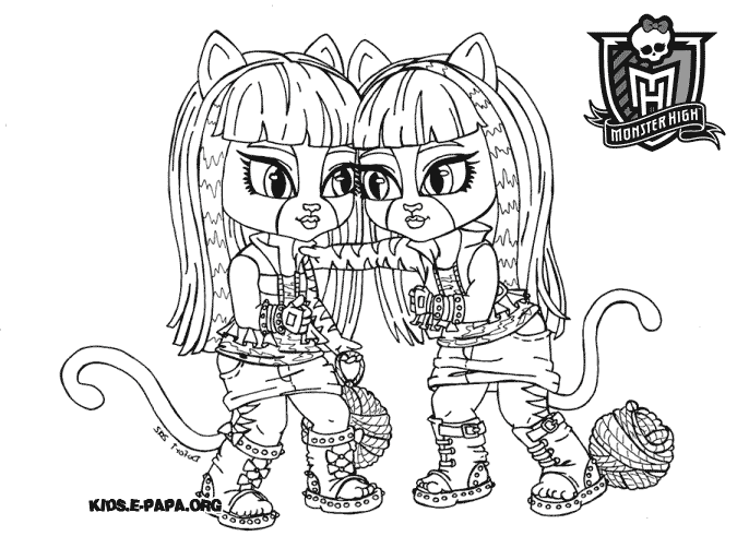 coloriage monster high 13 wishes a imprimer