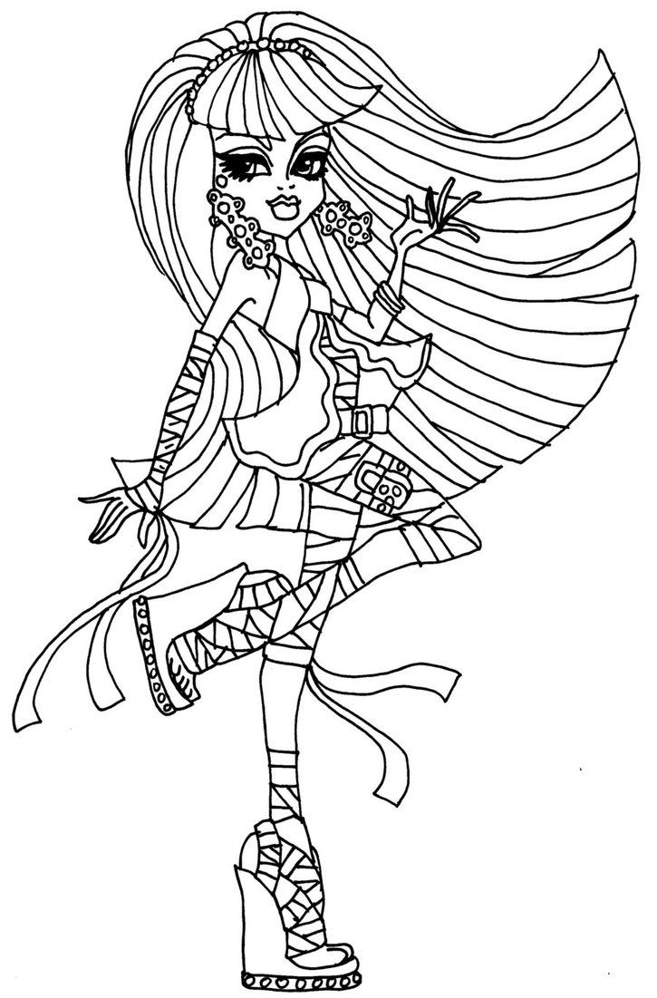 coloriage monster high clawdeen wolf