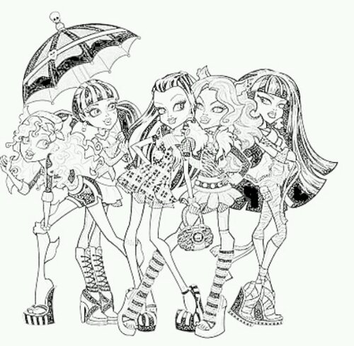 coloriage monster high à imprimer draculaura