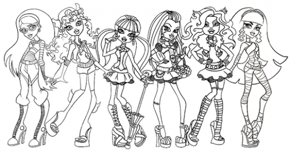 coloriage monster high anniversaire