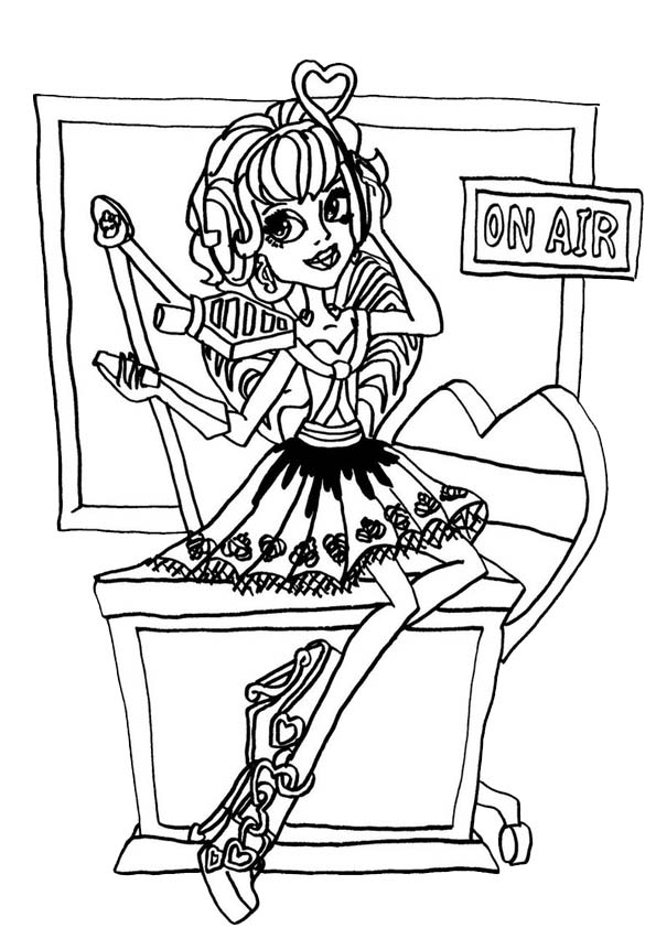 coloriage monster high robecca