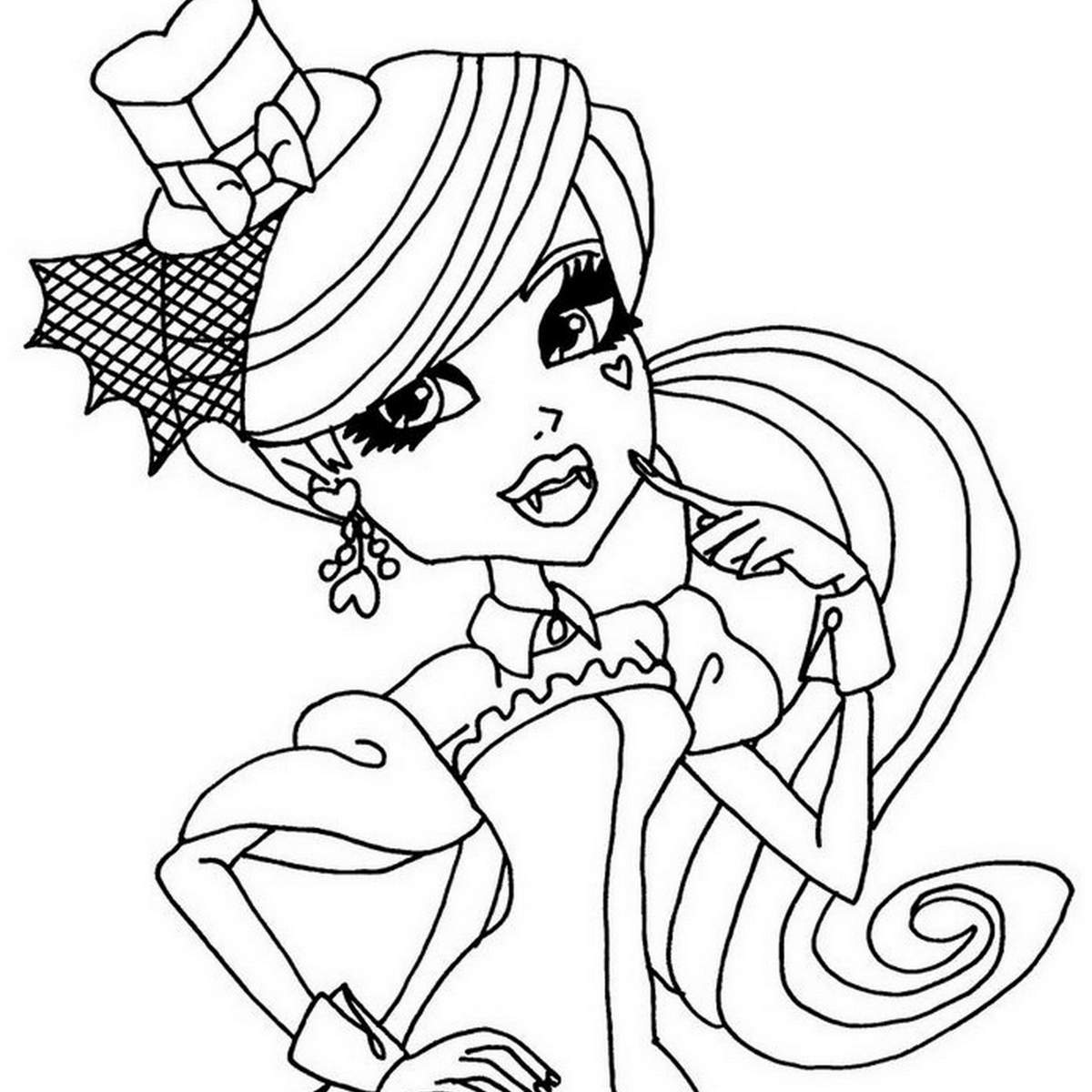 Coloriage monster high rochelle a imprimer - Coloriage de monster ...