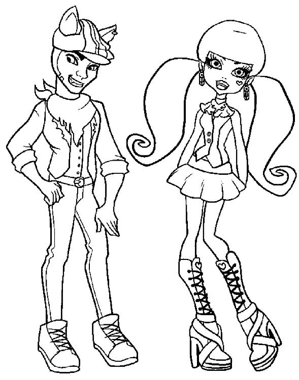 coloriage monster high soir�e pyjama