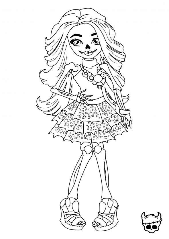 coloriage monster high cupid