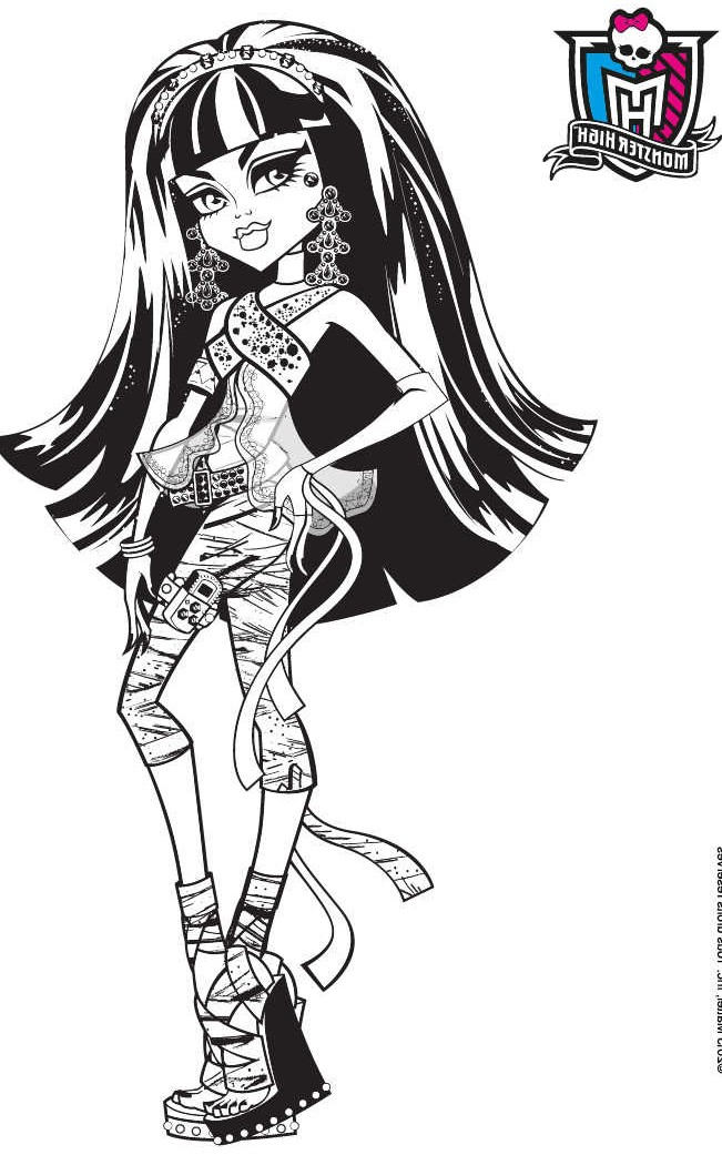 coloriage monster high a la plage