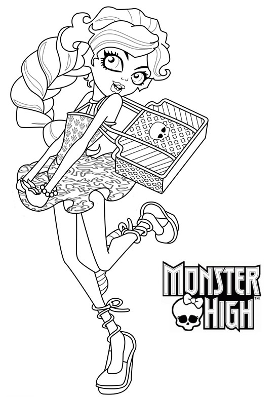 coloriage monster high jackson