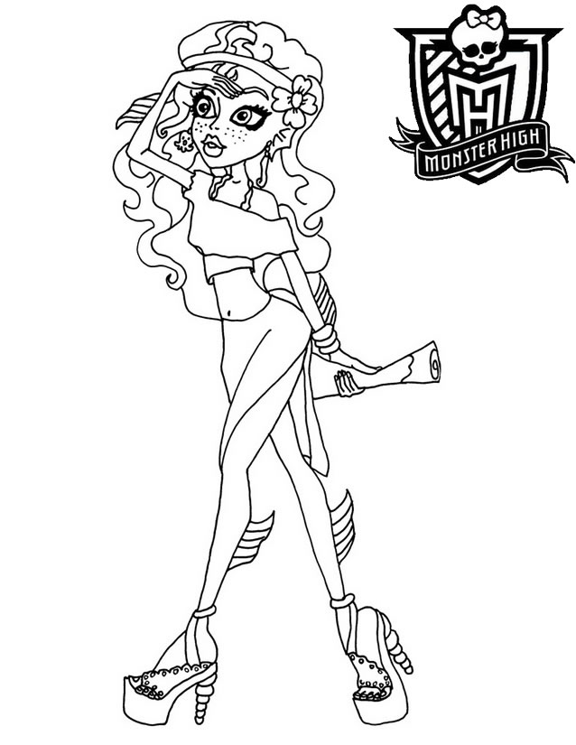 Coloriage monster high cleo de nile - Coloriage de monster ...