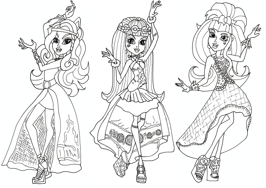 coloriage monster high draculaura