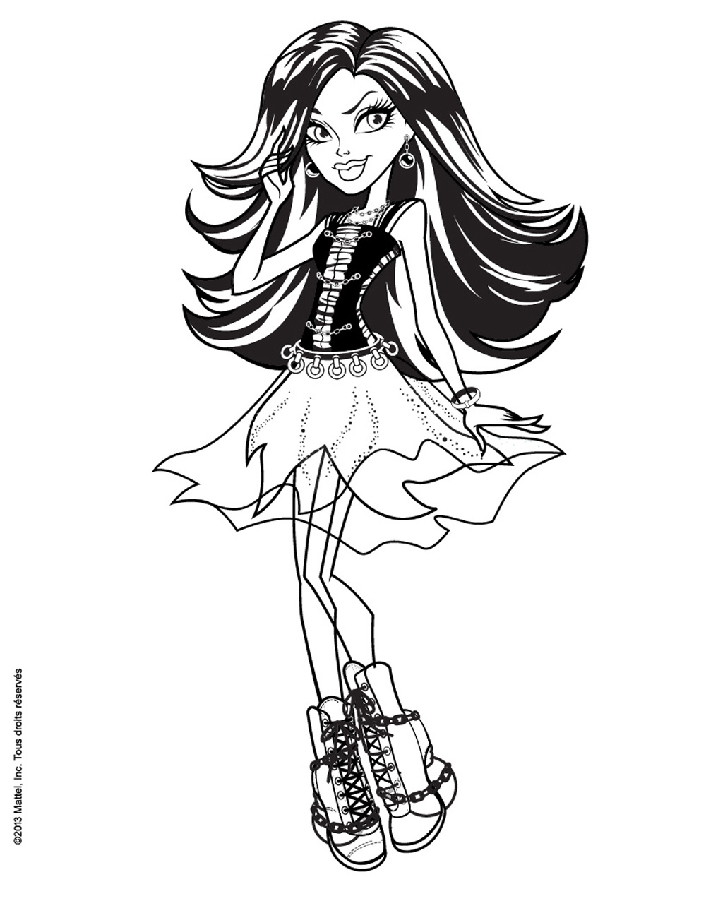 coloriage à imprimer monster high draculaura