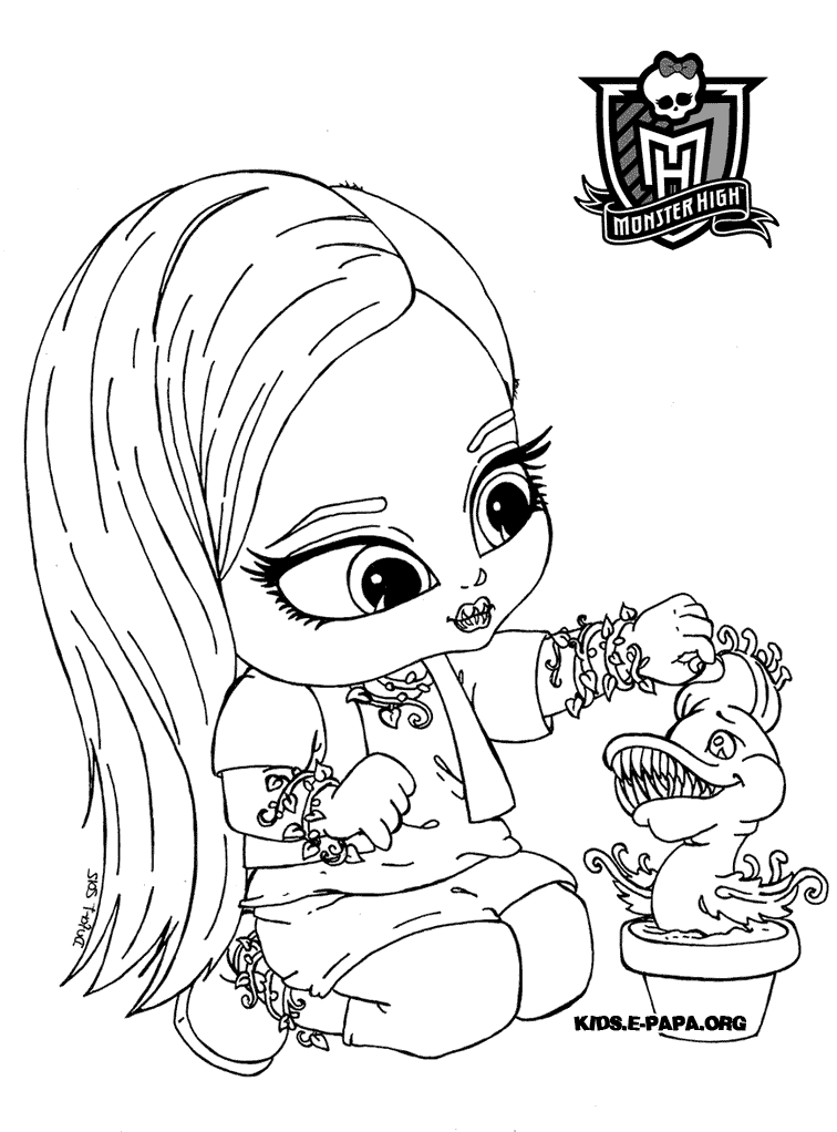 jeu de coloriage monster high a imprimer
