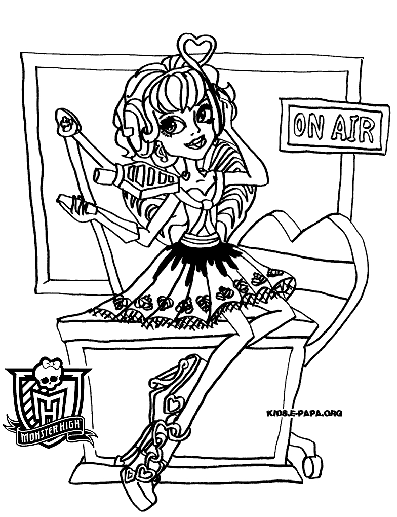 coloriage monster high groupe