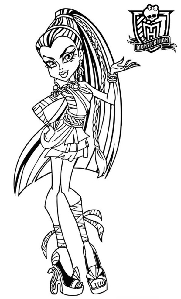 coloriage monster high meowlody