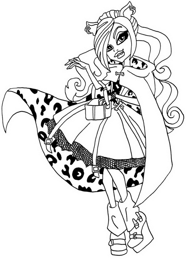 coloriage de monster high jeux de fille