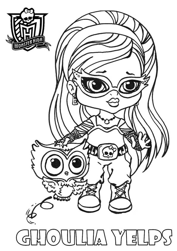 jeux de coloriage monster high bébé