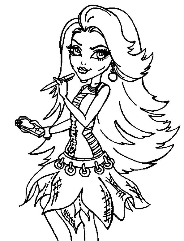 coloriage monster high fusion monstrueuse