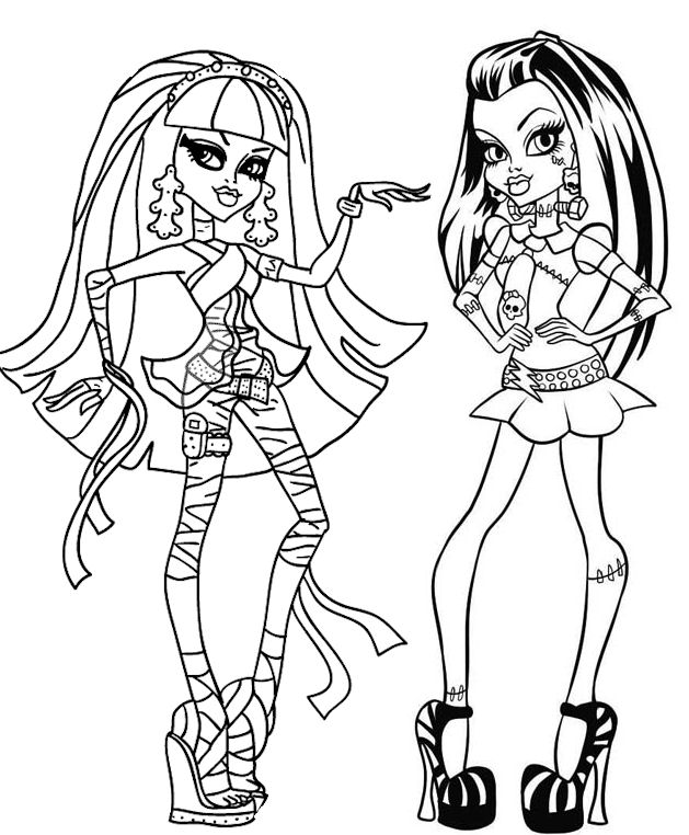 coloriage monster high et les 13 souhaits
