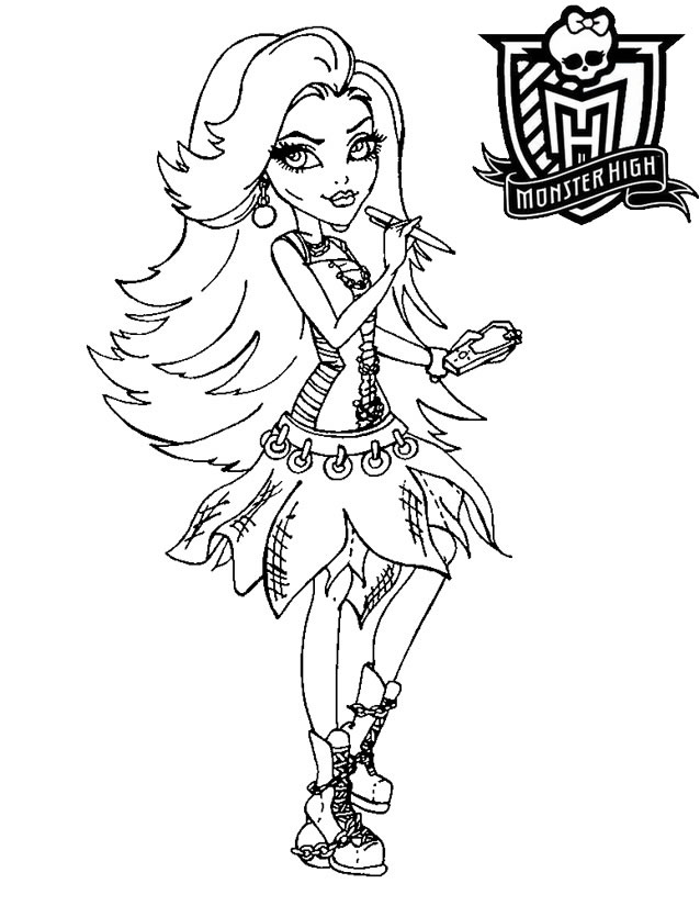 coloriage monster high en groupe