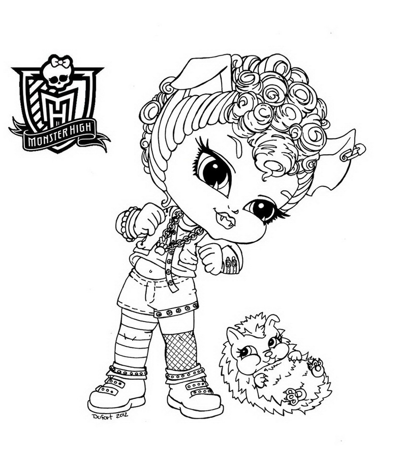 coloriage monster high a imprimer sur hugo l'escargot