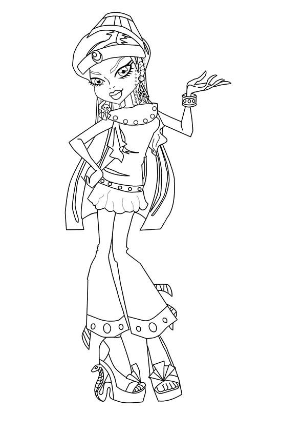 coloriage monster high tenue de plage