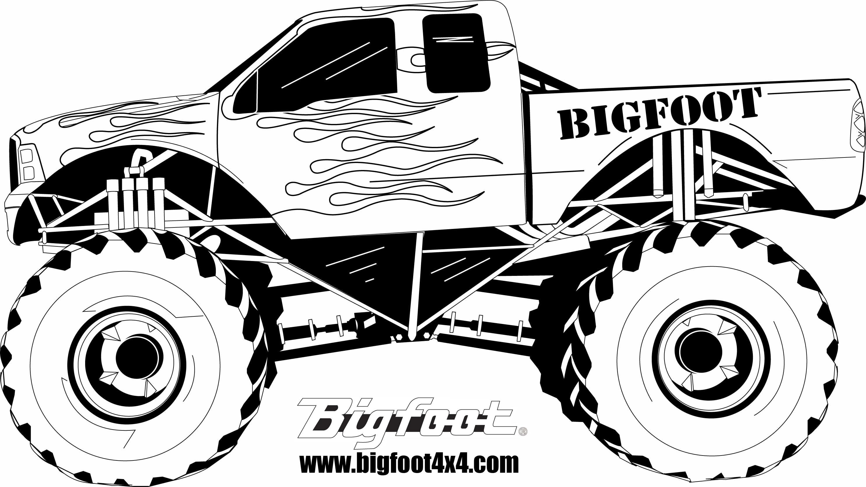 dessin à colorier monster truck grave digger