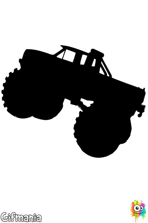coloriage à dessiner gratuit de monster truck